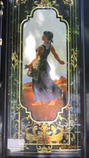 Oil on glass painting on traditional patisseries
